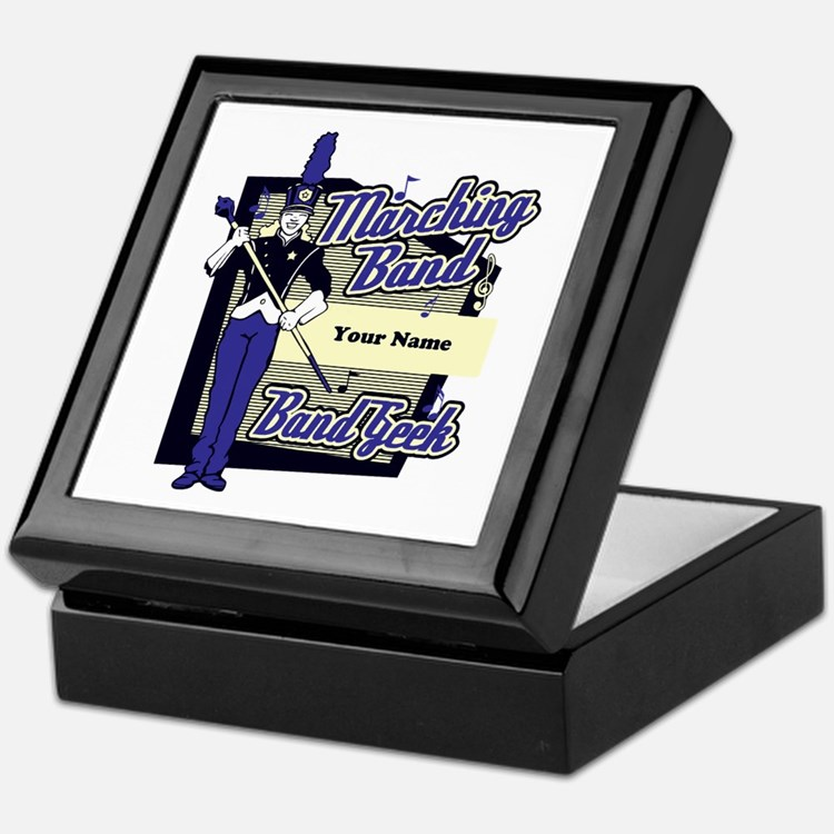 Custom Marching Band Geek(Blue) Keepsake Box