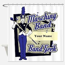 Custom Marching Band Geek(Blue) Shower Curtain