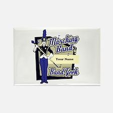 Custom Marching Band Geek(Blue) Rectangle Magnet