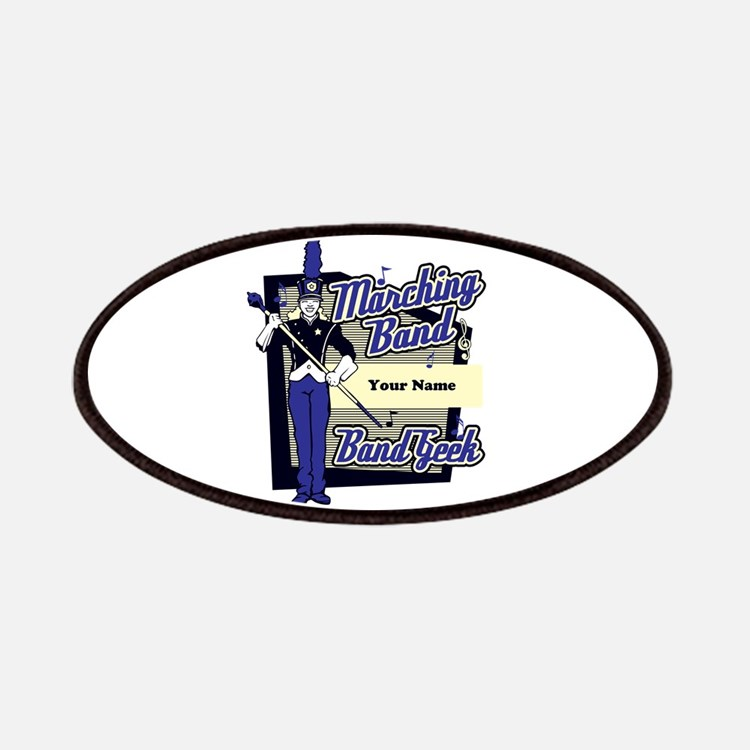 Custom Marching Band Geek(Blue) Patches