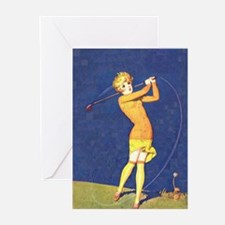 Women's Golf 2 Greeting Cards (Pk of 10)