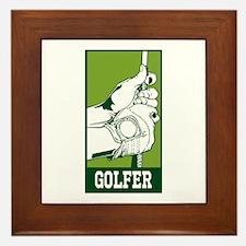 Personalized Golfer Framed Tile