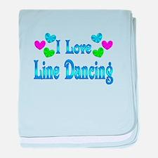 I Love Line Dancing baby blanket