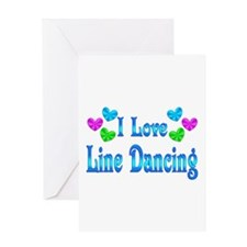 I Love Line Dancing Greeting Card