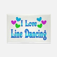I Love Line Dancing Rectangle Magnet (10 pack)