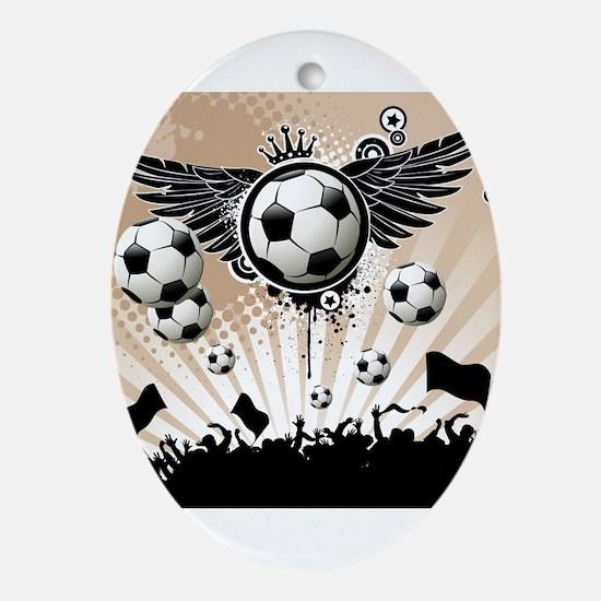 Decorative - Soccer - Football Ornament (Oval)