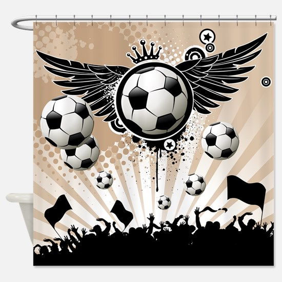 Decorative - Soccer - Football Shower Curtain