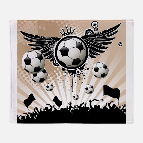 Decorative - Soccer - Football Throw Blanket