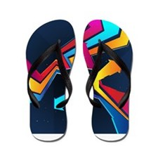 Decorative - Colorful - Graffiti Flip Flops