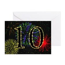 10th birthday party fireworks Greeting Cards (Pk o