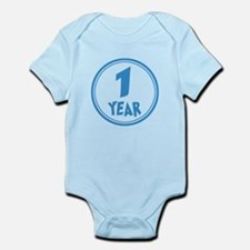 Baby - Month 12 - One Year - Boy Body Suit