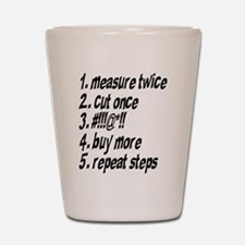 Repeat Steps Shot Glass