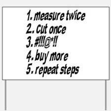 Repeat Steps Yard Sign