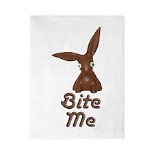 Bite Me Easter Chocolate Bunny Twin Duvet