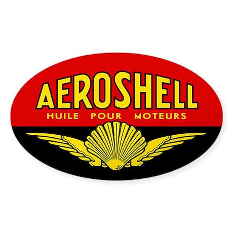 Aeroshell - Huile Pour Moteurs Sticker (Oval)