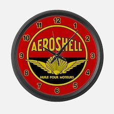 Aeroshell - Huile Pour Moteurs Large Wall Clock