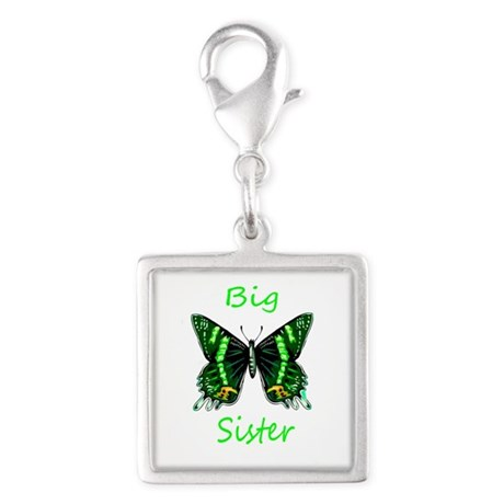 Big Sister Green Butterfly Charms