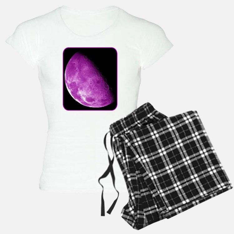 Moon - Space - Pink Pajamas