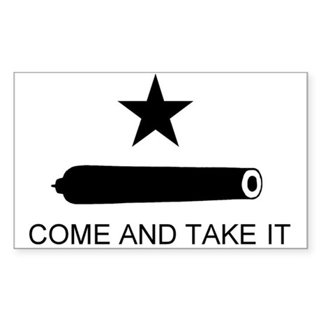 Gonzales Flag Rectangle Sticker