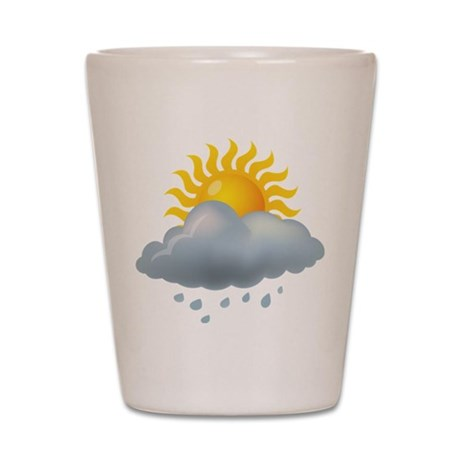 Rain - Weather - Storm Shot Glass