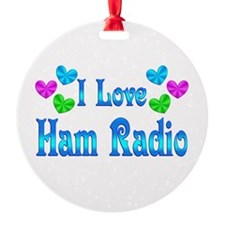 I Love Ham Radio Ornament