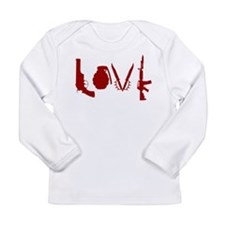 Weapon Love Long Sleeve Infant T-Shirt