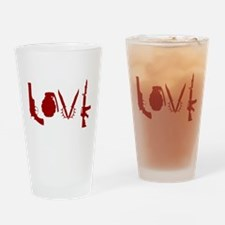 Weapon Love Drinking Glass