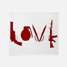 Weapon Love Throw Blanket