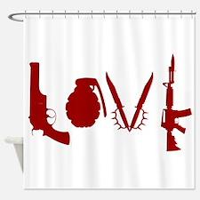 Weapon Love Shower Curtain