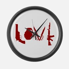 Weapon Love Large Wall Clock
