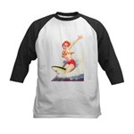 Surfer Girl Kids Baseball Jersey