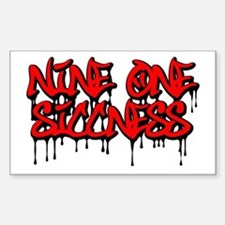Nine One Siccness Rectangle Decal