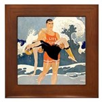 Life Guard Framed Tile