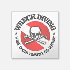 Wreck Diving (Skull) Sticker