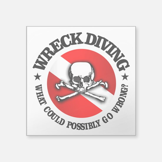 Wreck Diving (Skull) Sticker