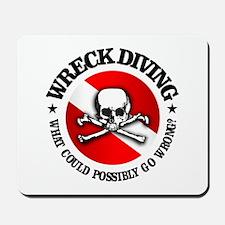 Wreck Diving (Skull) Mousepad