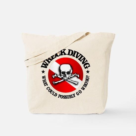 Wreck Diving (Skull) Tote Bag