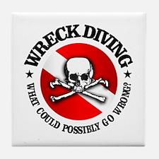 Wreck Diving (Skull) Tile Coaster