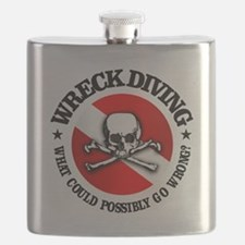 Wreck Diving (Skull) Flask