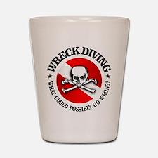 Wreck Diving (Skull) Shot Glass