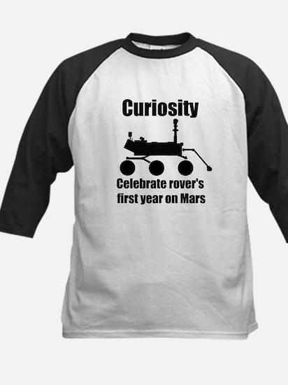 Curiosity one year on mars Kids Baseball Jersey