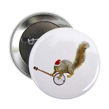 "Christmas Banjo Squirrel 2.25"" Button"