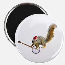 Christmas Banjo Squirrel Magnet