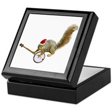 Christmas Banjo Squirrel Keepsake Box