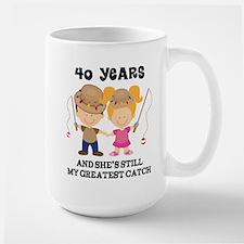 40th Anniversary Mens Fishing Mugs