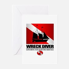 Wreck Diver (Ship) 2 Greeting Cards (Pk of 10)