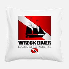 Wreck Diver (Ship) 2 Square Canvas Pillow