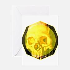 Skull - Death - Skeleton - Yellow Greeting Card