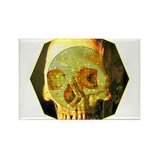 Skull - Death - Skeleton - Tech Rectangle Magnet