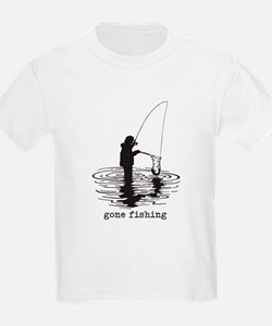 Personalized Gone Fishing T-Shirt